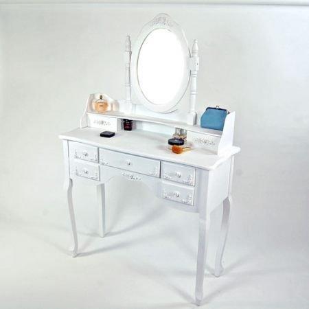 Venetian black 7 drawer dressing table