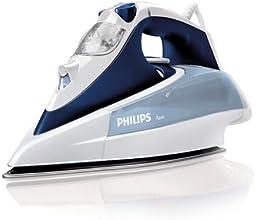 Philips GC4410/22 Azur Dampfbügeleisen (2400 W, SteamGlide-Dampfbügelsohle) weiß/blau