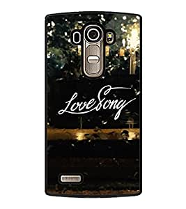 Fuson Premium 2D Back Case Cover Love story With Brown Background Degined For LG G4::LG G4 H815