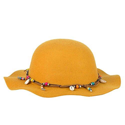 BBDM Cappelli delle Signore Derby moda retrò colore solido cappello , yellow