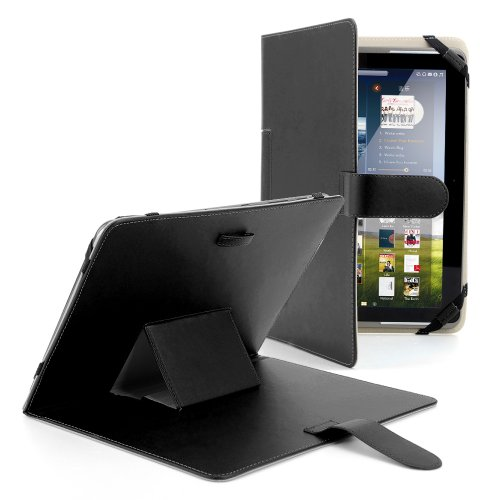 "Universal 10.1 Zoll Kunstleder Tasche Hülle Schwarz Case Cover Ständer für ODYS UNO X10 Tablet, Medion LIFETAB E10316, ARCHOS 101 Titanium, ARCHOS 101 Platinum, ARCHOS 101 Xenon, Samsung GALAXY Note10.1 N8000, Samsung GALAXY Tab 2 10.1 P5100 , Samsung GALAXY Tab 2 10.1 P5200 , Acer ICONIA W510 / W511, ViewSonic ViewPad 10I, ViewPad 100Q, Kobo Arc 10HD, HP Slate10 HD, Sony Xperia Tablet Z, pipo M9 PRO 3G 10.1"", Nokia Lumia 2520, 10"" Dell xps 10 , Toshiba Excite Pro AT10LE-A-108, Toshiba AT10PE-AT"