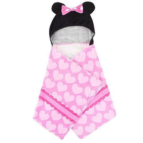 Disney Minnie Mouse Hooded Towel - Pink