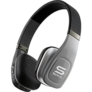 SOUL Volt SV3SLV Wireless Bluetooth Stereo Headset Hi-Definition On-Ear Headphones with Microphone - Silver