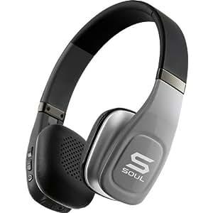 SOUL Electronics SV3SLV Volt Bluetooth Pro Hi-Definition On-Ear Headphones, Silver (Discontinued by manufacter)