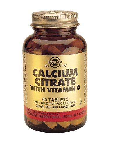 Solgar Calcium Citrate with Vitamin D Tablets - 60 Tablets