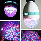 Mini RGB Full Color Rotating LED Lamp Stage Light Torch 3W with E27 Base For Disco DJ Stage Party KTV Bars Club
