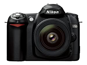 Nikon D50 DSLR Camera with 18-55mm f/3.5-5.6G ED AF-S Zoom Nikkor Lens (OLD MODEL)