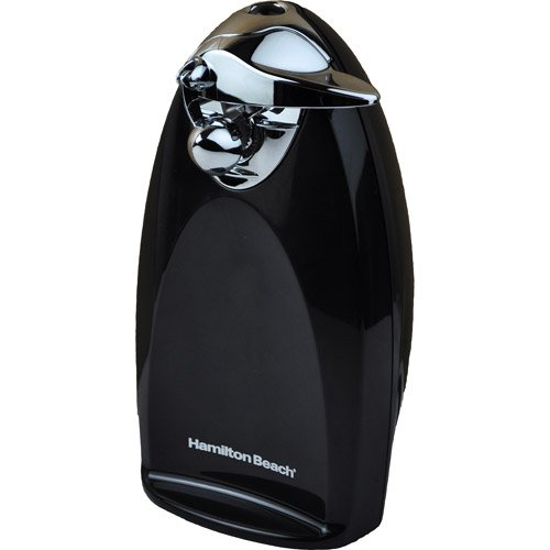 Kitchen Heavyweight Can Opener, Classic Chrome, Automatic, Black