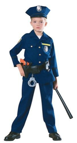 Child's Police Officer Costume Size Medium (8-10)
