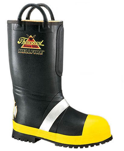 Thorogood 507-6000 Women's Hellfire Rubber Insulated Fire Steel Toe Boot with Lug Sole Black