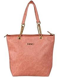 Merci Lorenza Pink Hand Held Tote Bag