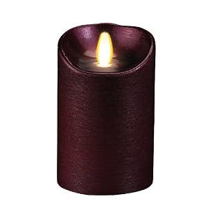 """Luminara 5"""" Battery Operated Glitter Wax LED Candle - Chardonnay"""