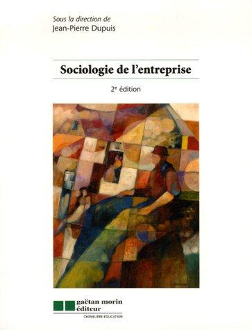 sociologie de l'entreprise 2eme edition