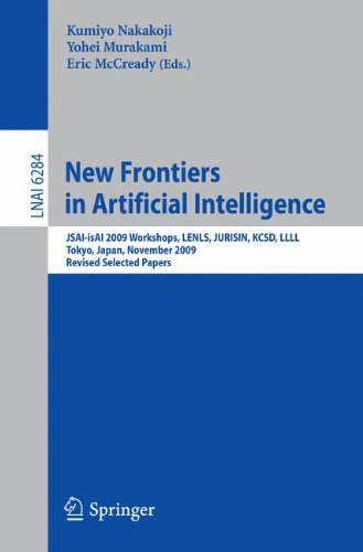 New Frontiers in Artificial Intelligence: JSAI-isAI 2009 Workshops, LENLS, JURISIN, KCSD, LLLL, Tokyo, Japan, November 1