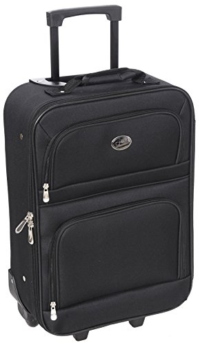 New Travel Carry On Suitcase On Wheels With Extendable Handle