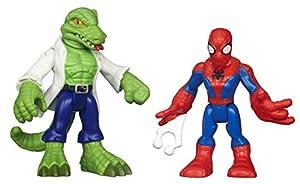 Playskool Marvel Super Heroes Figure Spiderman and Lizard (Pack of 2)