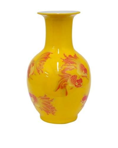 Three Hands Painted Fish Ceramic Vase