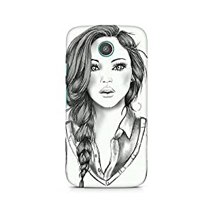 MOBICTURE Girl Abstract Premium Designer Mobile Back Case Cover For Moto G2