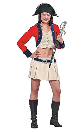 Sexy Colonial Soldier Female Adult Halloween Costume Size Large