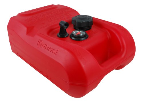 Attwood EPA Compliant Fuel Tank with Gauge, 3-Gallon