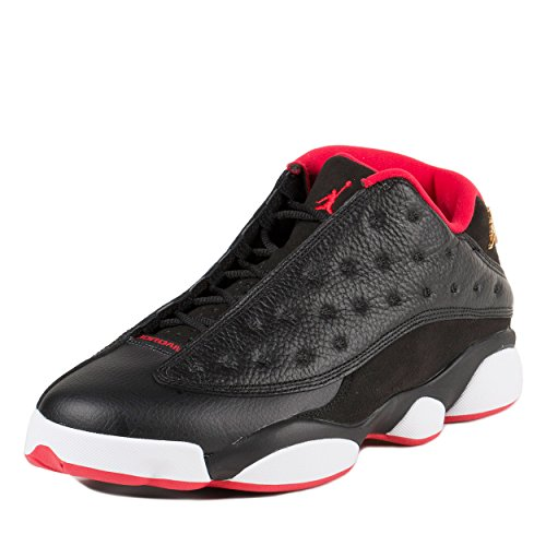 official photos 102e9 8a96f Jordan Men s Air 13 Retro Low, BLACK METALLIC GOLD-UNIVERSITY - Import It  All