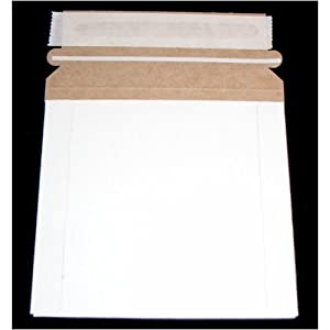 500 CD/DVD White Cardboard Mailers, Self Seal Mailers with Flap (5  1/4x 5 1/4)