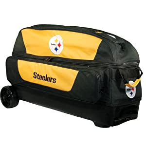 NFL Triple Roller Bowling Bag- Pittsburgh Steelers by KR Strikeforce Bowling Bags