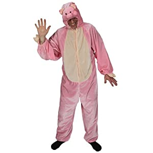 Porky Pig Adult Animal Fancy Dress Halloween Costume Os from Wicked