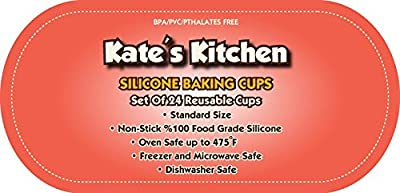 #1 Silicone Baking Cups ★ 24 Reusable Cupcake Liners / Muffin Molds ★ 100% Food Grade Non-Toxic Non-Stick Silicone ★ Oven/Microwave/Dishwasher/Freezer Safe ★ Vibrant Rainbow Colors ★ Never Buy Paper Cups Again ★ FREE Premium Hassle-Free Lifeti