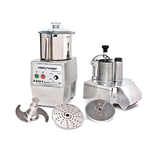 Robot Coupe R 602 V Food Processor w/ Continuous Feed Attachment