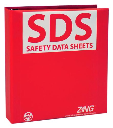 """ZING 6030 Eco GHS-SDS Binder, 1.5"""" Ring, Recycled Poly ..."""