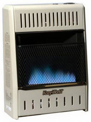 Kozy World Dual Fuel Vent Free Gas Wall Heater, 10,000 BTU - GWD104 (Wall Heater Btu compare prices)
