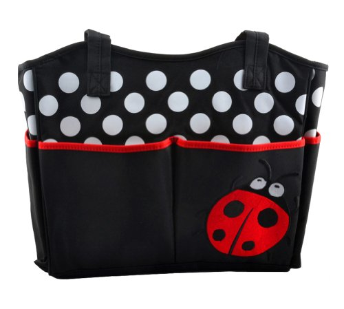 Tonwhar Mummy Bags Cute Ladybug Diaper Tote Handbag (Red)