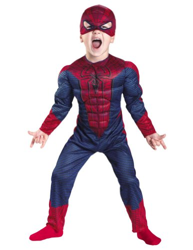 Spider-Man Movie Toddler Costume Muscle 3T-4T - Toddler Halloween Costume
