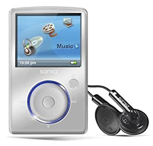 Sandisk Sansa Fuze 8GB MP3 and Video Player with FM Radio, Voice Recorder, microSD/SDHC Slot, SILVER, BULK PACKAGED