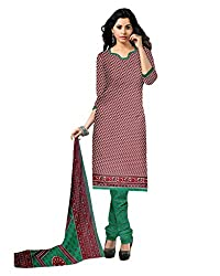 Drapes Women's Brown Crepe printed Dress Material (Unstitched)