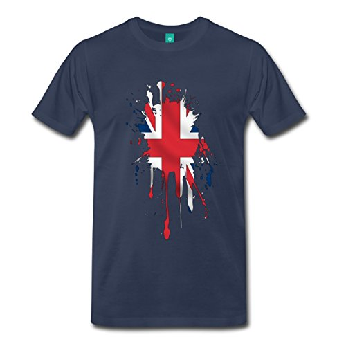 Spreadshirt Men'S Union_ Ack T-Shirt, Navy, 3X