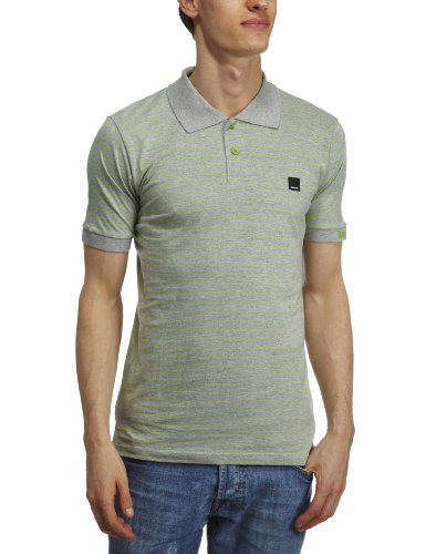Bench Elim Polo Shirt Men's Top Grey Marl Small