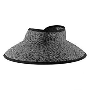 San Diego Hat Roll Up Visor (black/white mix)