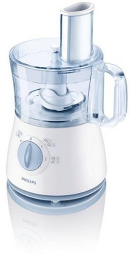 Philips HR7620/70 White Food Processor with 2 Speed Settings Plus Pulse, 500 Watt by Philips