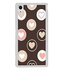 Hearts 2D Hard Polycarbonate Designer Back Case Cover for Sony Xperia M4 Aqua :: Sony Xperia M4 Aqua Dual