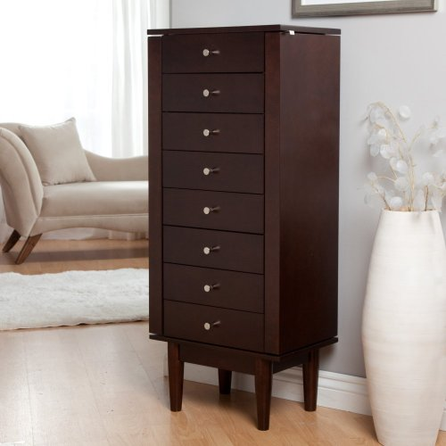 Dark Wood Jewelry Armoire front-1032266