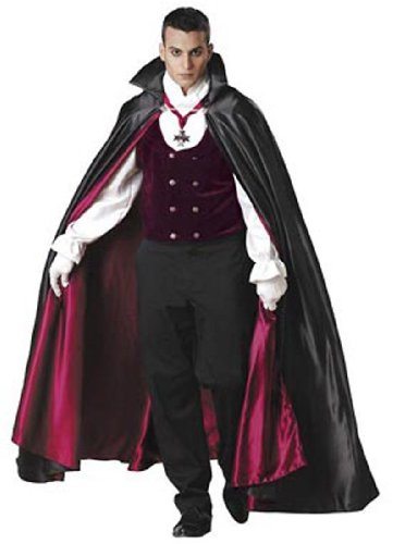 Gothic Vampire Costume - Large - Chest Size 42-44
