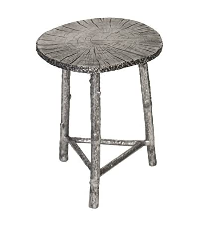 Prima Design Source Timber Accent Table, Silver Leaf