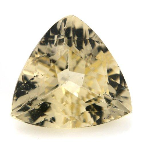Natural Yellow Beryl Loose Gemstone Trillion Cut 5.55cts 13mm SI Grade Marvelous