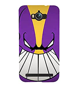 ANIMATED MONSTERS IN A purple BACKGROUND 3D Hard Polycarbonate Designer Back Case Cover for Asus Zenfone Max :: Asus Zenfone Max ZC550KL