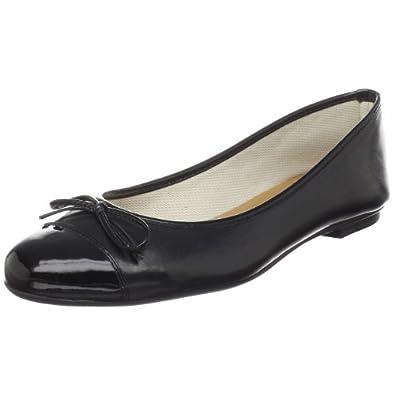 French Sole FS/NY Women's CERTAIN Ballerina Flat,Black,5.5 M US
