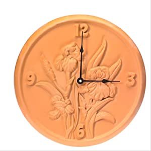 Opus 382 sunswept 12 1 2 quot terra cotta iris clock