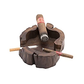 Unique Handmade Wooden Vintage Cuban Cigar Ashtray Personal Custom Antique Decorative Indoor Outdoor