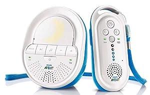 Philips Avent SCD505/00 - Vigilabebes DECT, alcance de hasta 330 m, cero interferencias, unidad de padres inalámbrica recargable - BebeHogar.com